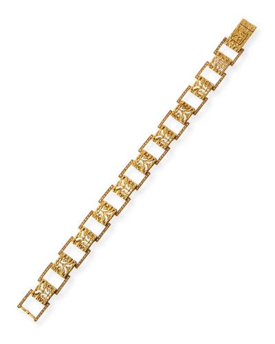 Warrior 18k Pave Link Bracelet
