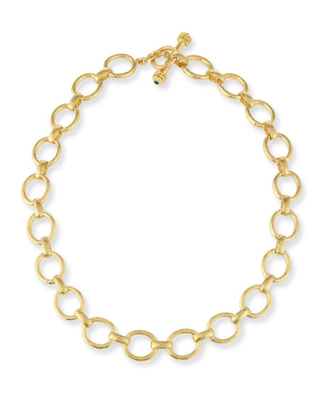 Elizabeth Locke 19K Gold Smooth Link Necklace, 17""