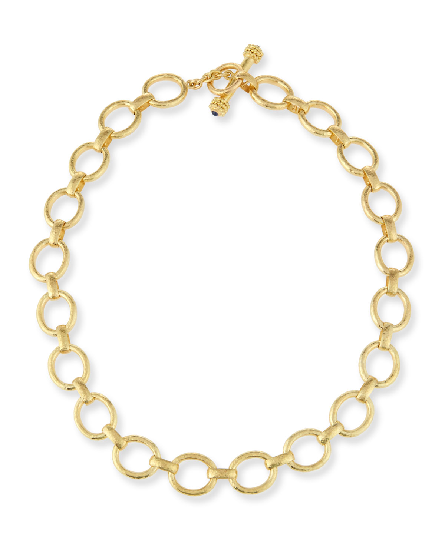 19K Gold Smooth Link Necklace