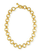 19K Gold Ravenna Link Necklace, 17""