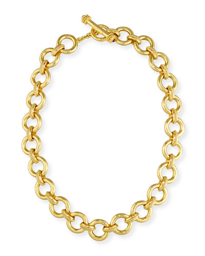 19K Gold Ravenna Link Necklace, 17