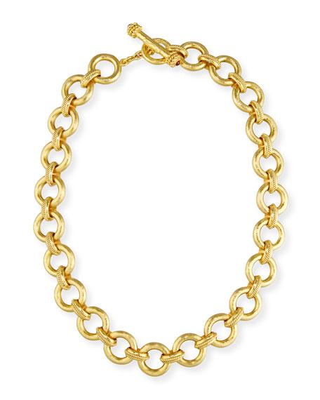 """Elizabeth Locke 19K Gold Ravenna Link Necklace, 17"""""""