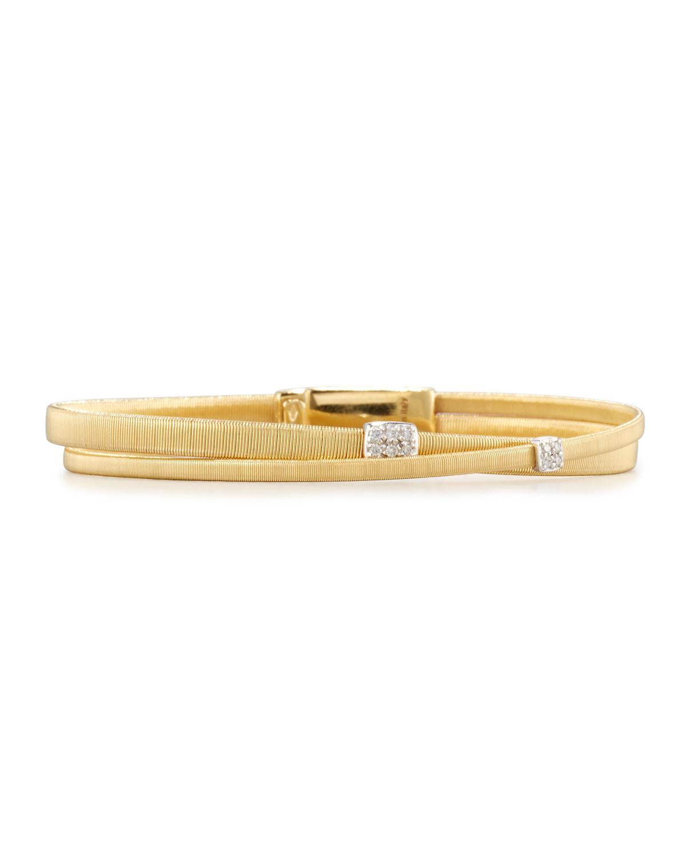 Masai Two-Row 18K Yellow Gold Bracelet with Diamonds
