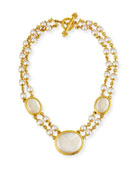 Moth and Butterfly Pearl Necklace