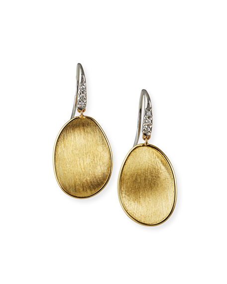 Marco Bicego Lunaria Drop Earrings with Diamonds