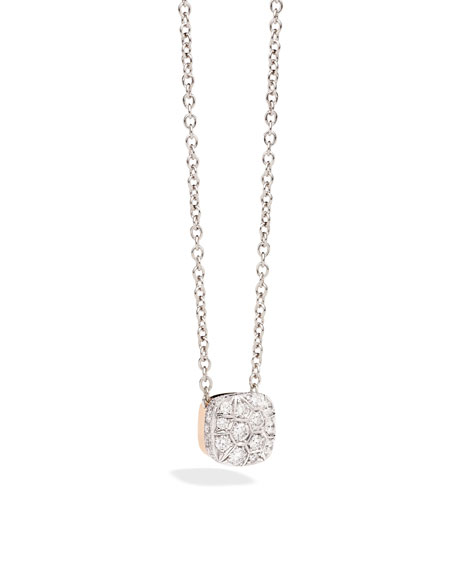 Pomellato Grande Nudo 18K White & Rose Gold Diamond Pendant Necklace