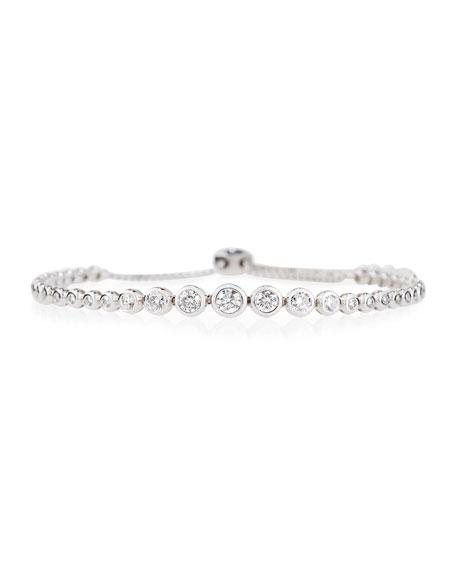 Cassidy Diamonds 18K White Gold Graduated Diamond Bezel Bracelet