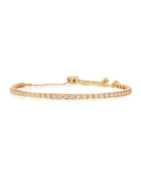 Cassidy Diamonds 18K Yellow Gold Square Diamond Bracelet