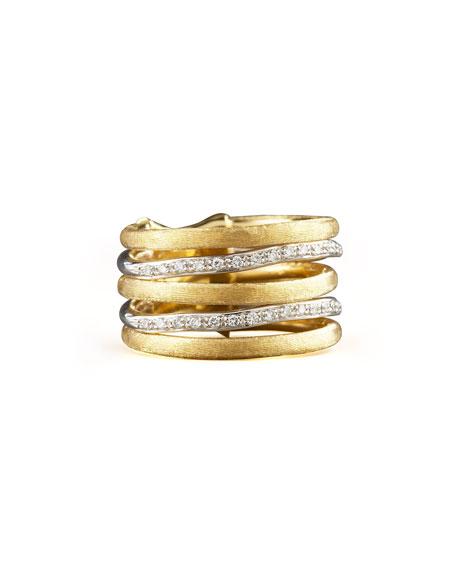 Marco Bicego Jaipur Stacked Diamond Ring, Size 7