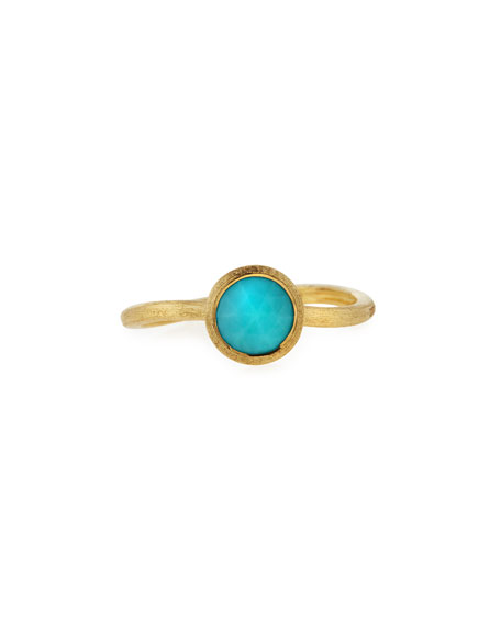 Marco Bicego Jaipur Turquoise Stackable Ring, Size 6.5
