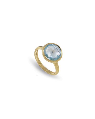 Jaipur 18K Faceted Round Ring, Size 7