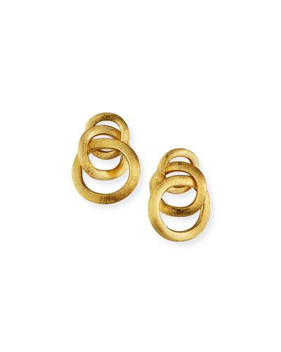 Jaipur Textured Gold Link Earrings