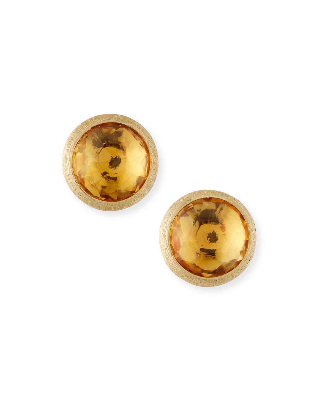 Jaipur Citrine Stud Earrings