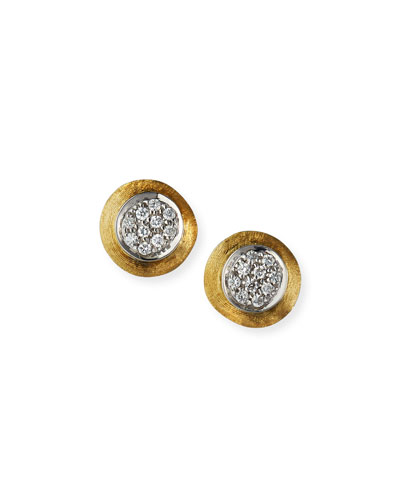 Jaipur 18k Gold Diamond Stud Earrings