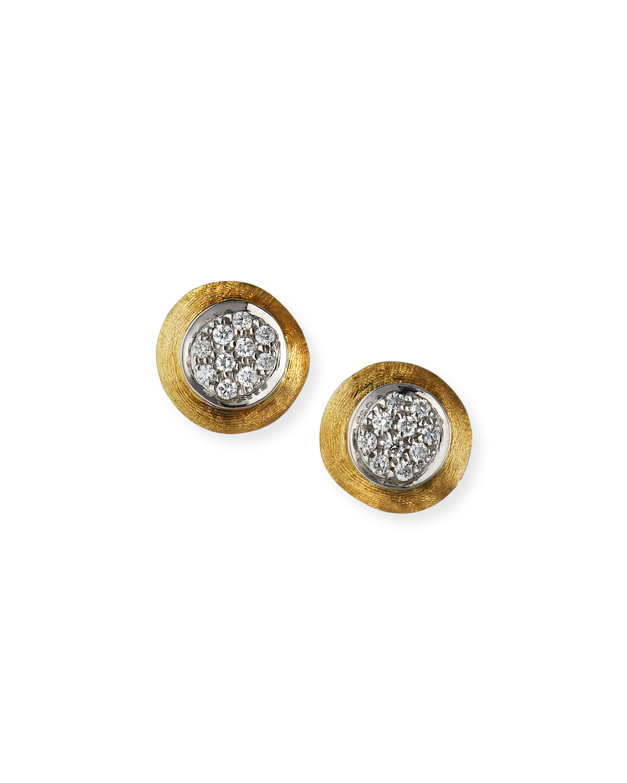 Jaipur 18k Gold Diamond Stud Earrings