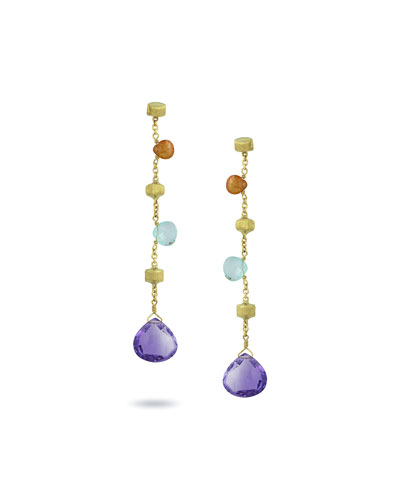 Paradise Long Mixed-Stone Drop Earrings