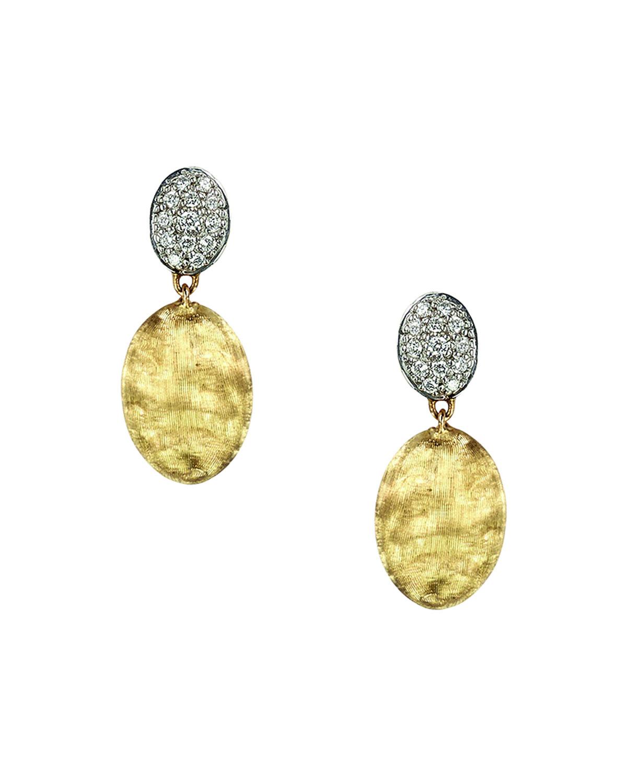 Siviglia 18K Gold & Pave Diamond Double-Drop Earrings