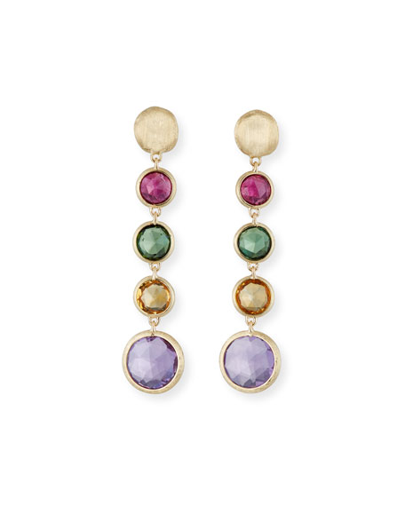 Marco Bicego Jaipur 18K Gold Mixed Semiprecious Stone Drop Earrings