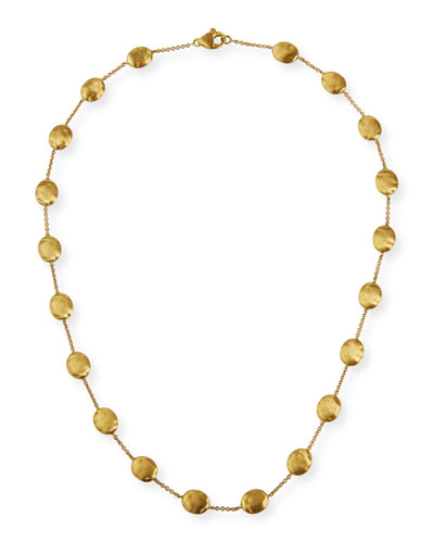 Marco Bicego Marrakech 18k Gold Single Strand Necklace, 36L