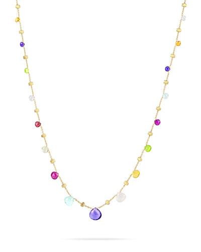 Paradise Semi-Precious Multi-Stone & 18K Yellow Gold Necklace, Multi/Gold