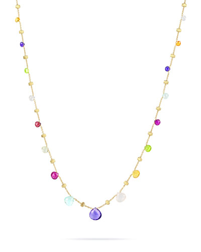 Paradise Semi-Precious Multi-Stone & 18K Yellow Gold Necklace in Multi/ Yellow Gold