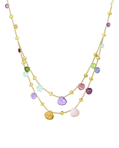 Paradise 2-Strand Mixed Stone Necklace