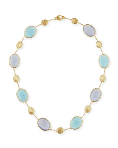 Siviglia Resort Aquamarine & Chalcedony Necklace