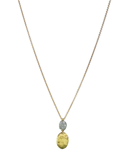 Siviglia 18K Gold & Pavé Diamond Pendant Necklace