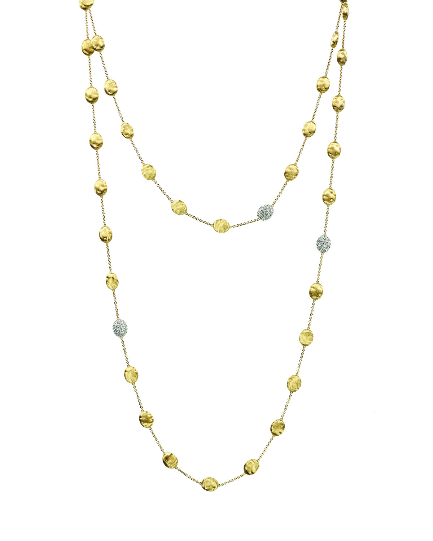 Siviglia Pave Diamond Bead Station Necklace
