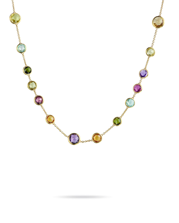 Jaipur 18K Gold Mixed Semiprecious Stone Necklace