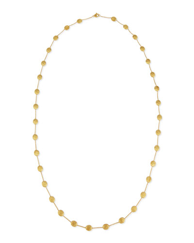 Siviglia 18k Gold Long Station Necklace, 36