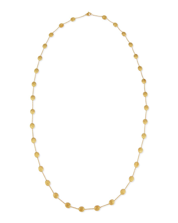 Siviglia 18k Gold Long Station Necklace