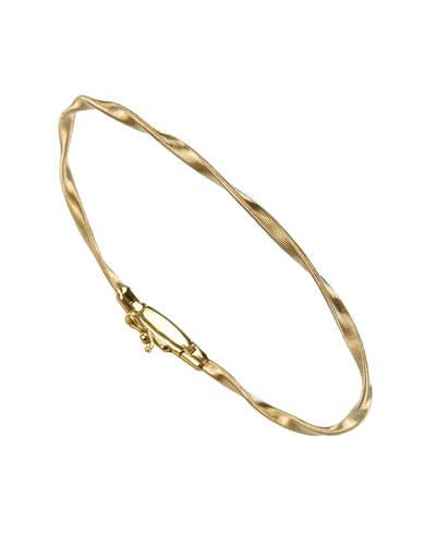 Marrakech 18K Gold Twisted Bangle Bracelet, Yellow Gold