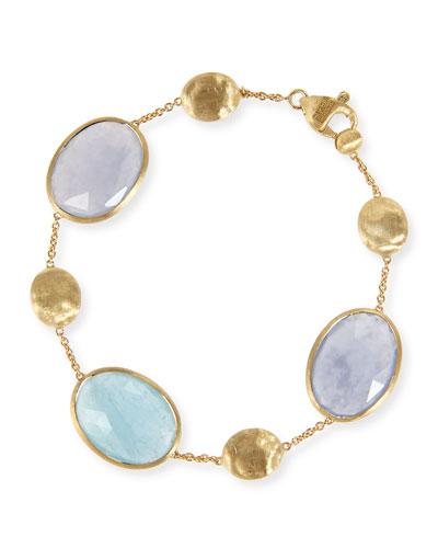 Siviglia Resort Aquamarine & Chalcedony Bracelet