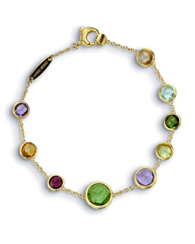 Jaipur 18K Gold Mixed Semiprecious Stone Bracelet, 7