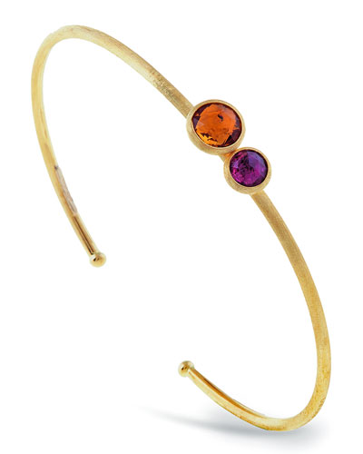 Jaipur 18K Two-Stone Bangle Bracelet