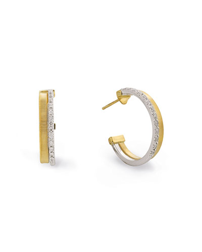 Masai 18K White & Yellow Gold Hoop Earrings with Diamonds