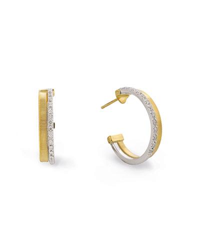 Masai 18K White & Yellow Gold Hoop Earrings with Diamonds