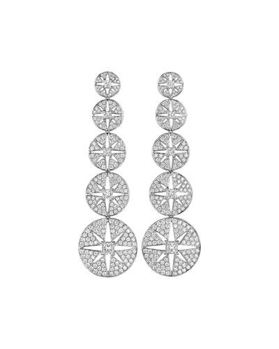Pastiche Graduated Diamond Star Drop Earrings