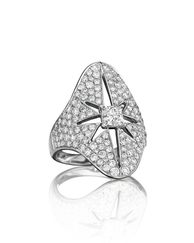 Pastiche Pavé Diamond Star Ring