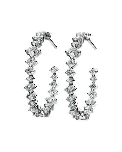 Hoops Mixed-Size Diamond Earrings