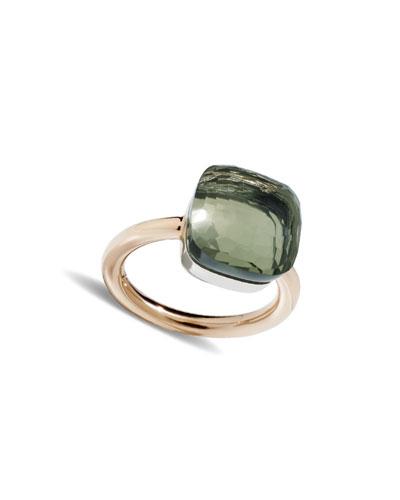 POMELLATO Nudo Maxi Ring With Prasiolite In 18K Rose And White Gold in Pink