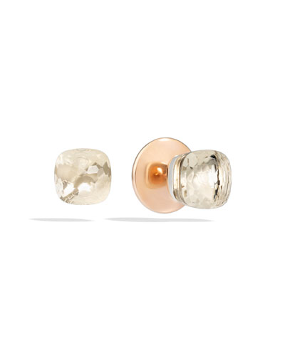 Nudo 18K Rose Gold & Clear Quartz Earrings