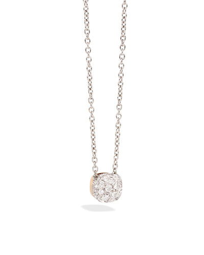 Nudo 18K White & Rose Gold Diamond Pendant Necklace