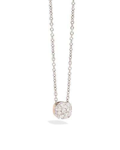 POMELLATO Nudo Necklace With Diamonds In 18K Rose And White Gold