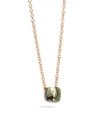 Nudo Prasiolite Pendant Necklace