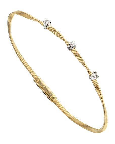 Marco Bicego Marrakech 18K Yellow Gold Twisted Bracelet with Diamonds
