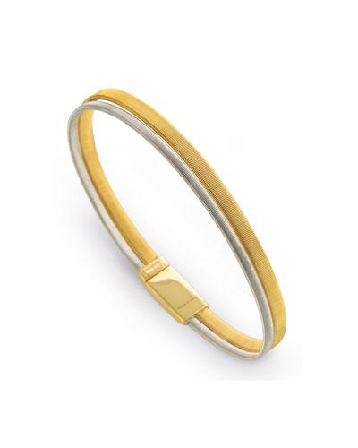 Masai Two-Row 18K Yellow & White Gold Bracelet