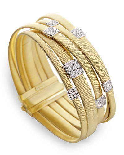 Masai 18K Gold Five-Row Bracelet with Diamonds
