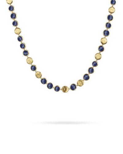 Jaipur 18K Gold Lapis Lazuli Collar Necklace